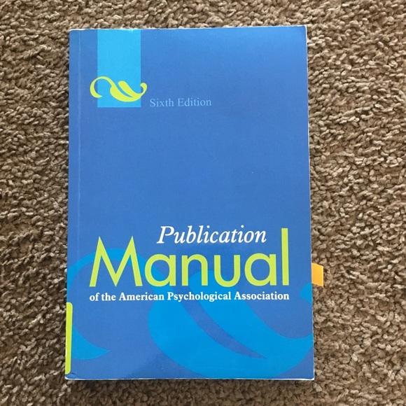 other apa manual 6th edition poshmark